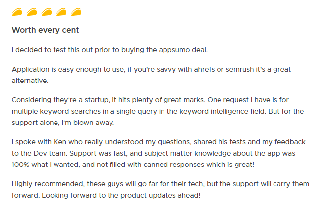 Example of good customer feedback to re-engage inactive customers
