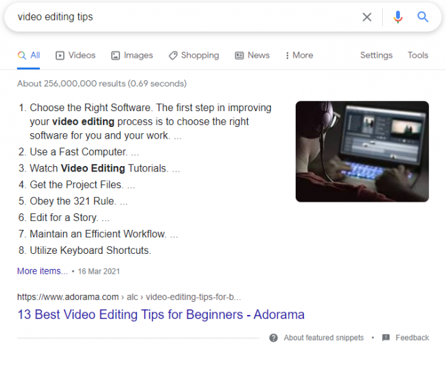 SEO trends 9 - featured snippets