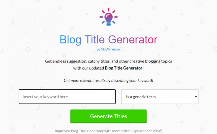 blog best practices - Blog Title generator for great headline generation