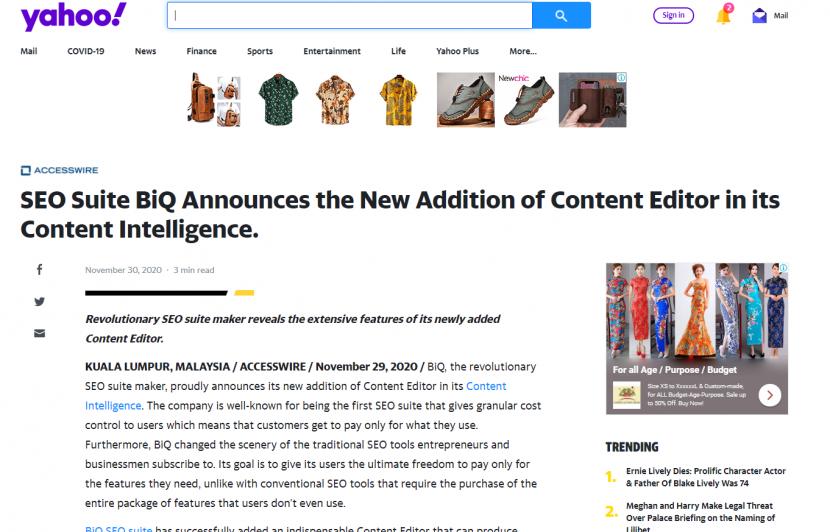 Send Press release to get wider reach just like BiQ