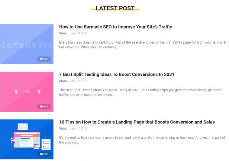 BiQ blog maintains the freshness of site