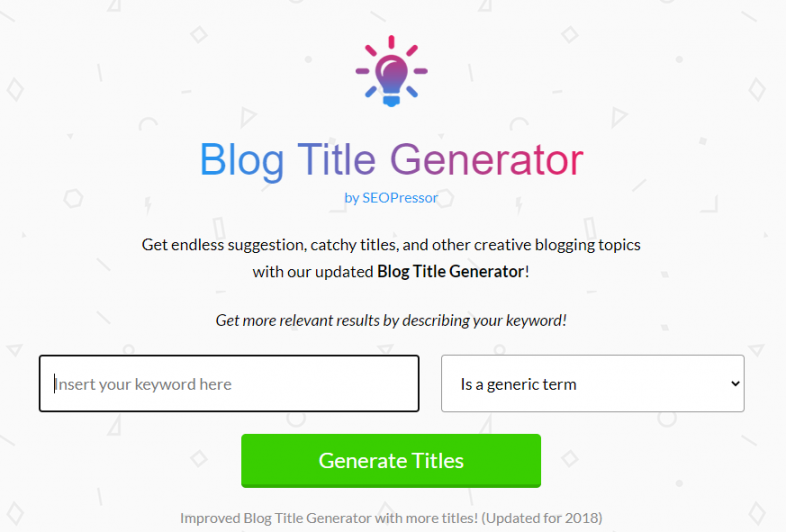 Blogging Mistakes 10 - Have an Attractive Title with Blog Title Generator