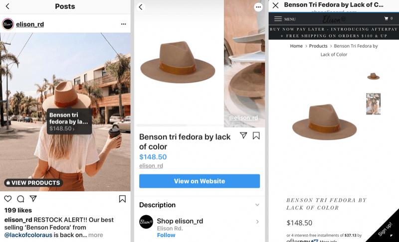 Social Shopping platform: Instagram Shop