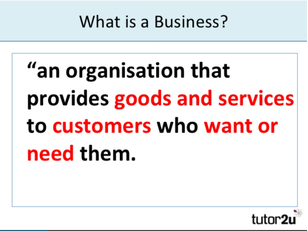 What is a business explanation