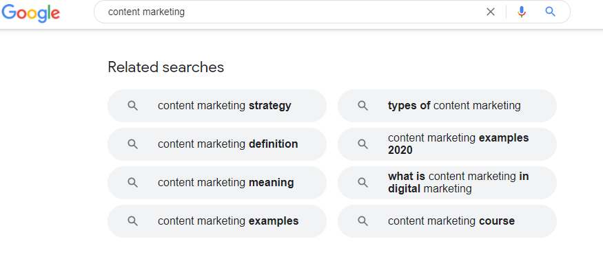 """Google """"related to"""" searches"""