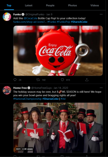 Marketing lessons 6: hashtag campaigns by coke