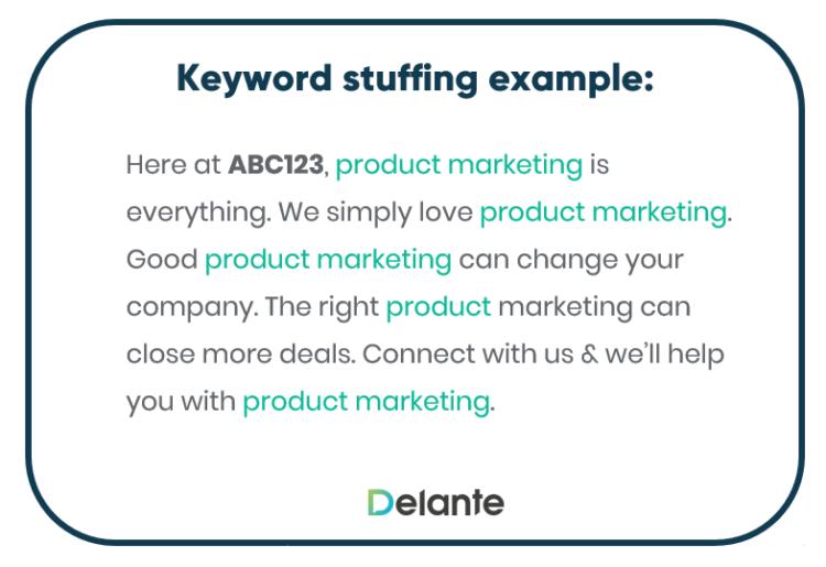 Avoid keyword stuffing in meta description