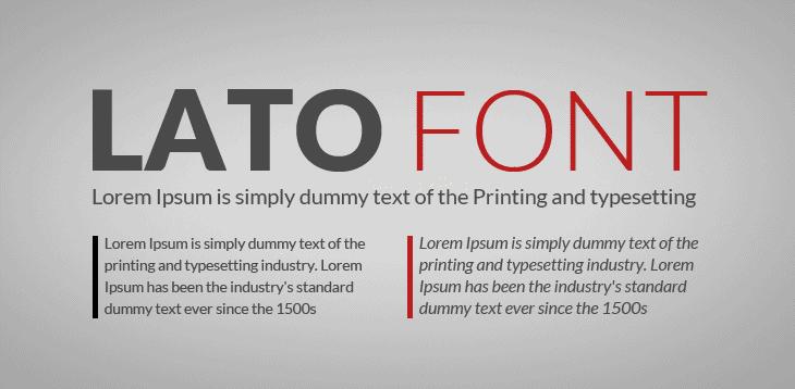 Best fonts for website - Lato