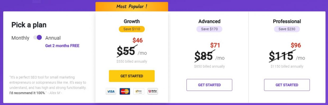 Highlight the Plan You Want People to Buy pricing page best practices