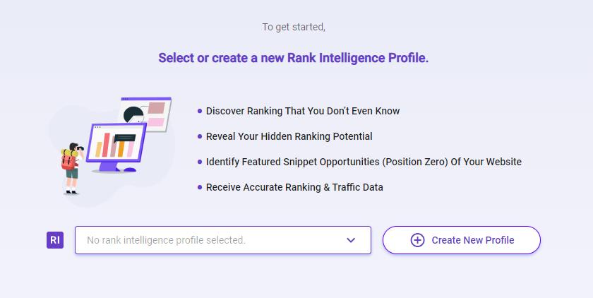 BiQ Rank Intelligence create profile