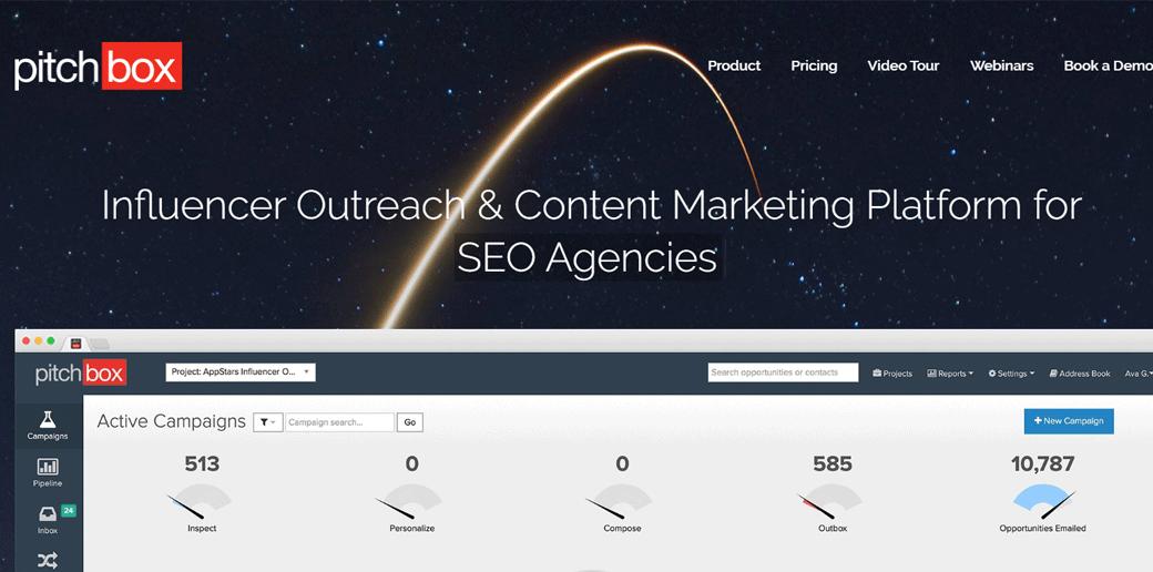 blogger outreach tool -  Pitchbox
