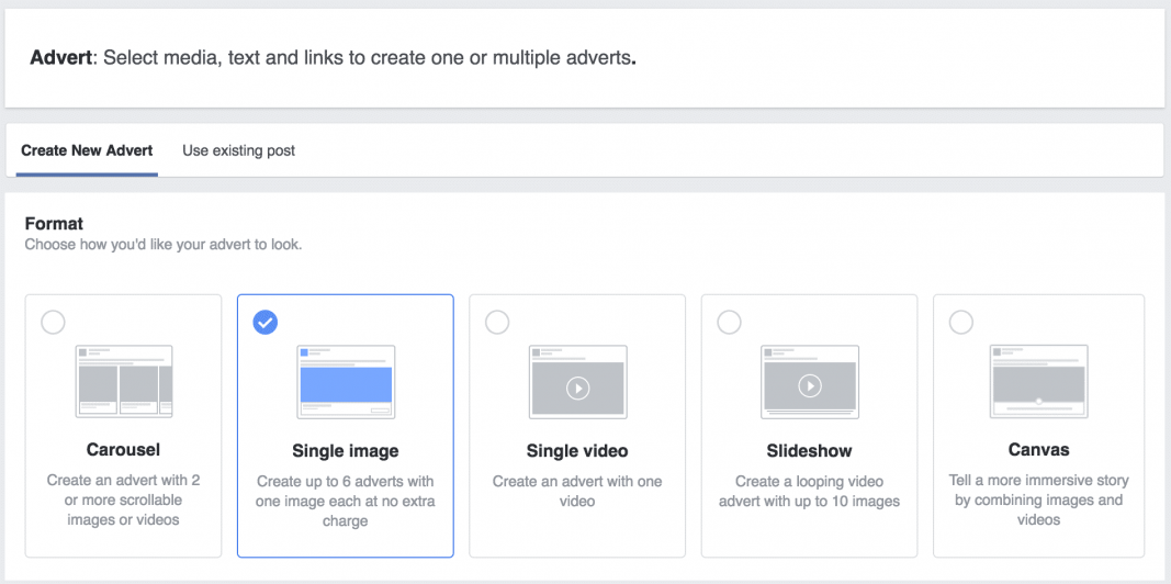 Type of Facebook Ads: Photo Ad