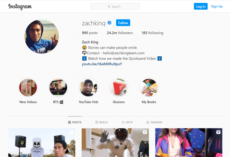 Some influencers like @Zachking publish their content information on their channels.