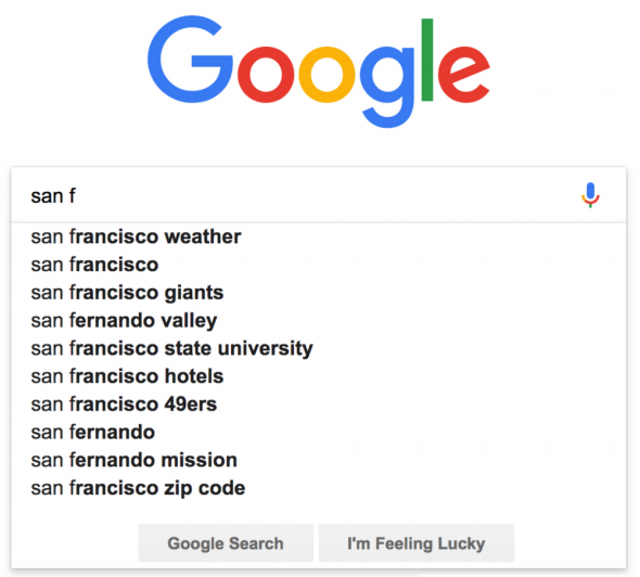 Google Autocomplete predicts the keyword that you type in for your keyword research.