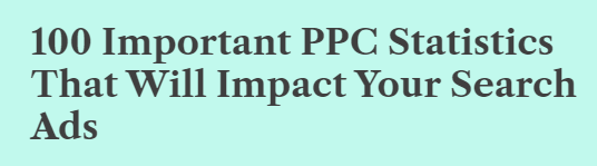100 Important PPC Statistics That Will Impact Your Search Ads