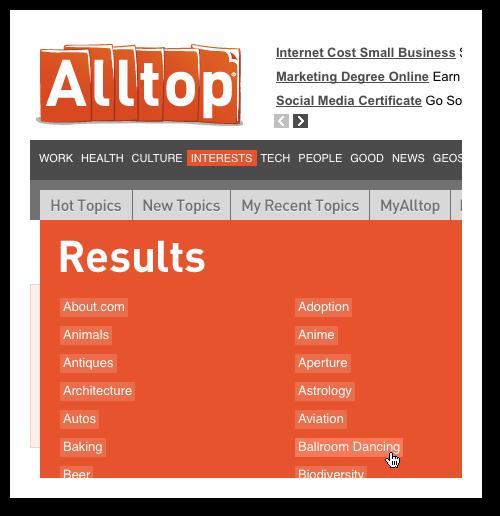 Blogger outreach tool - Alltop