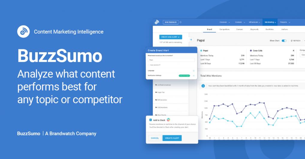 Blogger outreach tool - Buzzsumo