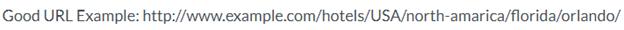 SEO tips - good URL example