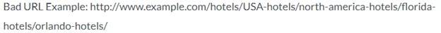 SEO tips - bad URL example