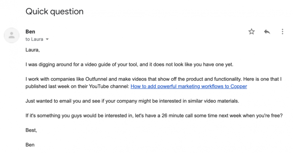 Emails to promote lead generation