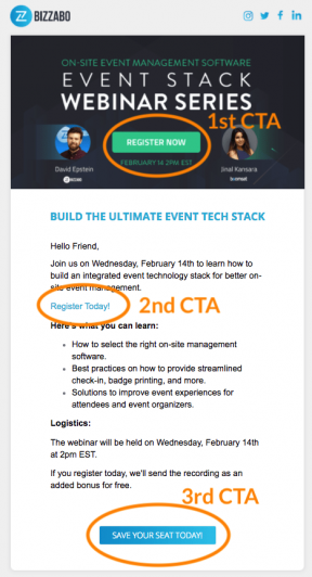 Optimonk webinar Invitation emails